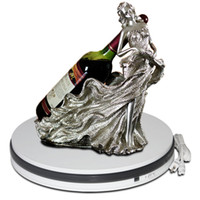 Dia 45 h6cm Messe elektrische 360-Grad-Spinning Display Regal Acryl Licht Box Wein Regal Basis