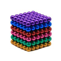 Wholesale Wholesale Magnetic Balls 5mm - 5MM Multicolor Magnetic Buckyballs Sculpture Ball Toys for Intelligence Development and Stress Relief DIY Magnet Block Decoration Toys