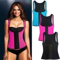 Wholesale Womens Vest Brown - Wholesale- Sexy Womens Neoprene Body Shaper Slimming Waist Slim Belt Vest Underbust