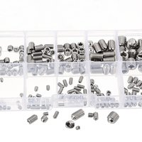 MXSH1 da M3 a M6 Allen Cup Point Vite in acciaio inox Hex Socket Set Assortimento 200Pcs