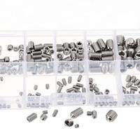 Wholesale Stainless Steel Allen Screws - MXSH1 M3 to M6 Allen Cup Point Screw Stainless Steel Hex Socket Set Assortment 200Pcs