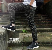 Wholesale Sport Camo Cargo Pants - Fashion Camo Jogger Pant For Men Slim Casual Cargo Pants Military Camouflage Sport Pant Trousers YYF1109