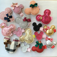Wholesale Dog Apparel Hair - 30PCS lot Pet Dog cat Hair Clips mickey bows Hairpins Grooming Bowknot mix clips Pet Apparel Hair Accessories Hairpin Dog & Cat PD110