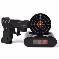 Wholesale Clock Guns - Gun Alarm Clock   Shoot Alarm Clock   Gun O'Clock   Lock N Load Target Alarm Clock office gadgets