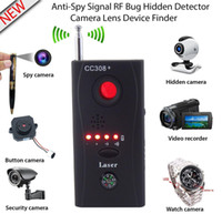 Wholesale wireless security devices for sale - Wireless Full frequency Radio Signal Detector GSM Device Finder Cam Laser Lens RF Signal Detector for Personal Privacy Security