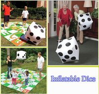 Inflatable Dice Giant Inflatable Blow Up Dot Dice Toys para crianças Adulto Grande Outdoor Party Pool Toy 30 * 35cm