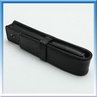 кожаный чехол для авторучки оптовых-Бесплатная доставка МБ высокое качество кожи или PU Pen Case подарок ручка сумка для ролика мяч / фонтан / шариковая ручка