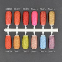 Wholesale Sweet Nail Polish Candy - Wholesale- TRY NAIL 6ml Pretty Nail Art Gold Sand Gel Polish Stamping Glue Varnish Newly Sweet Style Nail Polish Candy Colors Matte Effect