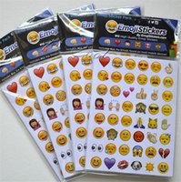 Wholesale Stickers For Tablets - Decorative Emoji Sticker Pack 912 Emoji Stickers Most Popular Emojis For Mobile Phone Kids Rooms Home Decor Tablet 19 Sheets Pack b08