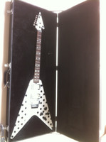 Wholesale Guitar Red Special - Wholesale- Randy Rhoads Guitar Harpoon Polka Dot Flying V standard Guitar Replica Collectible with folydrose Special Bridge and hardcase