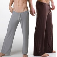Wholesale Sleepwear Men S Long Sleeve - MILLYN 1pcs leisure sexy sleepwear for men bathing wholesale mens sleep bottoms yoga long pants panties underwear pants robe