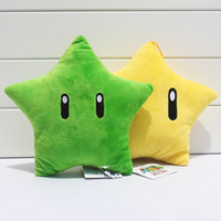 "Wholesale Mario Throw - Retail 1pcs Super Mario Star Plush Toy Stuffed Doll Throw Pillow 8""20cm Free Shipping"
