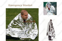 Wholesale Space Blankets Wholesale - 130cm*210cm WaterProof Emergency Survival Rescue Blanket Foil Thermal Space First Aid Sliver Rescue Curtain Outdoor Pads Free shipping
