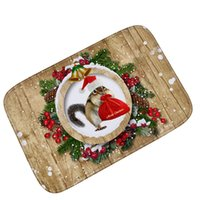 Wholesale Red Carpet Entrance - Christmas Decorations for Home Floor Mats Outdoor Doormat Non-slip Hallway Entrance Carpets Pad Bathroom Kitchen Rugs Christmas Gift