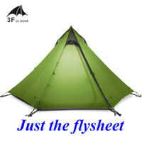 Wholesale Big Two Game - Wholesale- 700 grams New arrival 2 or 3 persons 15D silnylon big pyramid flysheet