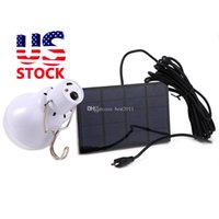 Wholesale Solar Energy Wholesale - Stock in US S-1200 15W 130LM Portable Led Bulb Garden Solar Powered Light Charged Solar Energy Lamp High Quality Free Shipping