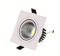Wholesale white single beds for sale - Dimmable Square COB LED Recessed Ceiling Down Lights Silver White w w w w w single head ceiling spotlights downlight lighting SAA UL