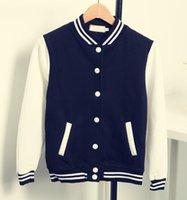 Wholesale Baseball Star Buttons - Wholesale- stars style baseball uniform long sleeve thicken Fleece jacket high quality hoody jaqueta s-xxl