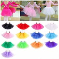 Wholesale Tutu Skirt Dance Mini - baby Tutu Skirt Princess Dance Party Tulle Skirt fluffy chiffon skirt girls Ballet dance wear Party costume Baby girl clothes Free shipping