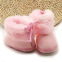 soft baby winter boots venda por atacado-Sweet Winter Recém-nascido Bebé meninas Princesa do inverno Botas Primeira Walkers macia Soled infantil criança crianças menina Calçado Sapatos