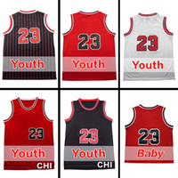 Wholesale M Logos - 23 Youth Jersey Free Shipping #23 Kids Basketball Jersey Best quality Baby Jersey Embroidery Logos Size S M L XL Accept Mix order