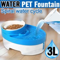 Bowls, Cups & Pails outdoor fountain waterfall - 3L Auto Waterfall Drinking Fountain Cat dog Pet Drinker Water Bowl with Filter