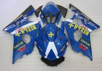 Wholesale Motorcycle Race Bodywork - 3 gifts New ABS motorcycle parts Fairing Kit Fit For Suzuki GSXR600 GSXR750 2004 2005 600 750 04 05 K4 gsxr bodywork set RIZLA+ Racing