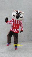 Wholesale Badger Costume - Deluxe Bucky Badger Mascot Costume Mr Fox Costume Free Shipping