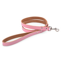 Wholesale Genuine Cow Leather Pieces - 1 Piece Soft Genuine Cow Leather Dog Sturdy and Durable Leashes for Medium and Large Dogs