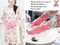 Wholesale Latex Clothes Wholesale - Fashion home apron, anti-greasy stains apron, kitchen protective clothing, + with the same color latex gloves,Aprons.