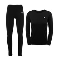 Wholesale Women Red Thermal Underwear - Wholesale- Women Winter Thermal Underwear Men Women Warm Long Johns Women Ski Jacket and Pants For Ski Hiking Snowboard Cycling