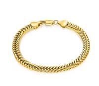schwanz armband großhandel-18K Gold Schmuck europäischen und amerikanischen Mode 6MM Armband Fuchs Schwanz Kette