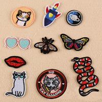 Wholesale Dress For Celebs - 10pcs Punk Backing Snake Sticker Embroidered Iron On Patch For Clothing Jeans Jacket Patches Blouse Celeb Dress Fabric Patchwork Appliqued