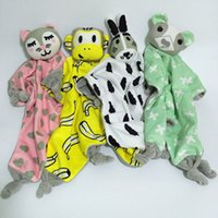 Wholesale 40 cm Appease Towel Baby Toy INS Explosion Models Bibs Can Chew Toy Baby Doll Cat Rabbit Bear monkey Children Plaything styles C1808