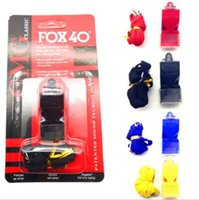 Wholesale Abs Whistle - Fox40 Whistle Plastic FOX 40 Soccer Football Basketball Hockey Baseball Sports Classic Referee Whistle Survival Outdoor Toy CCA8078 100pcs