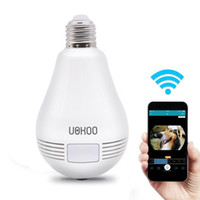Wholesale cameras bulbs resale online - WIFI GLobe Panorama Cam P2P Lamp Bulb mini IP camera HD P Video Audio Recorder LED Light Camera wireless APP Remote Surveillance