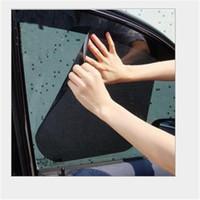 autoadhesivos laterales al por mayor-Par de cortinas del parabrisas del coche Pegatinas para el sol Sombra Protección contra rayos UV Car Side Window Film
