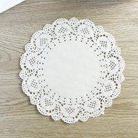 """Wholesale Decoupage Napkins Vintage - Wholesale- 100pcs 6.5"""" diameter 16.5cm Scrapbooking Vintage Hollowed Lace napkins Craft decoupage paper design doyleys placemat"""