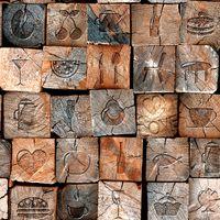 Wholesale Paper Backed Vinyl - 3D Effect Wood Look Mural Vintage Barn Wooden Mural Wallpaper Decor Background pvc