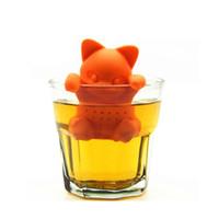 Wholesale cute cats kittens - Cartoon Kitten Tea Strainer Cute Cat Silicone Tea Infuser Wholesale Tea Tools