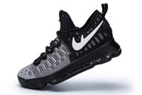 Wholesale Shoes Price Boy - KD 9 Oreo White Basketball shoes 2017 Top Quality new KD 9 sneakers Store Wholesale prices free shipping us 7-12