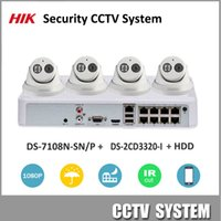 Wholesale Installing Security Cameras - HIK 1080P Security Camera Kit POE NVR DS-7108N-SN P & IP Camera DS-2CD3320-I Security CCTV System for Home Easy to Install