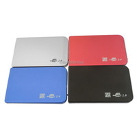 Wholesale 4 Color S2502 EL5018 USB HDD Hard Drive Disk HDD Enclosure External Inch Sata HDD Case Box Super Slim Aluminum alloy Mobile Disk