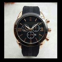 Wholesale large blue clock for sale - Group buy Top brand Large Size Watch Men Luxury Designer automatic Date calendar gold Wristwatch Sports style Military silicone Big digital Male Clock