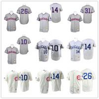 6b2af164 ... Chicago Cubs 31 Ferguson Jenkins 1969 White Throwback Jersey Baseball  Men Short Throwback 10 Ron Santo .