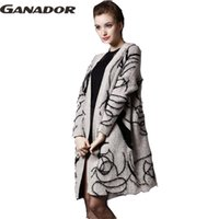 Wholesale One Size Cardigans - Wholesale-Ganador Women Long Cardigan Autumn Winter One Size Korean Style Beading Pearls Long Knitted Sweater Outwear In Stock LS6400na