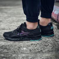 Wholesale Discount Baseball - Discount 2017 Asics Black Knight Gel Lyte V H6Q2L-9090 Men Shoes Women Running Shoes Original Walking Boots Basketball Sneakers Shoes