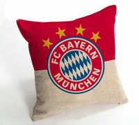 Wholesale European flag pattern series cotton pillow furniture sofa cushions Mary football fans gift x45cm