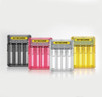 ingrosso caricabatterie 2a-Caricabatterie rapido originale Nitecore Q4 4-Slot 2A Intellicharger Caricabatterie universale E Cig per 18650 26650 20700 IMR Li-ion 100% autentico