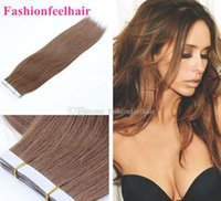 """Wholesale Extension Glue Skin - 18""""-28""""Glue Skin Weft Hair Extension PU Tape in Human Hair Extensions INDIAN Natural Hair Extension stock 3-5 days delivery"""